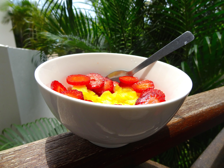 Fraises et ananas de la Réunion