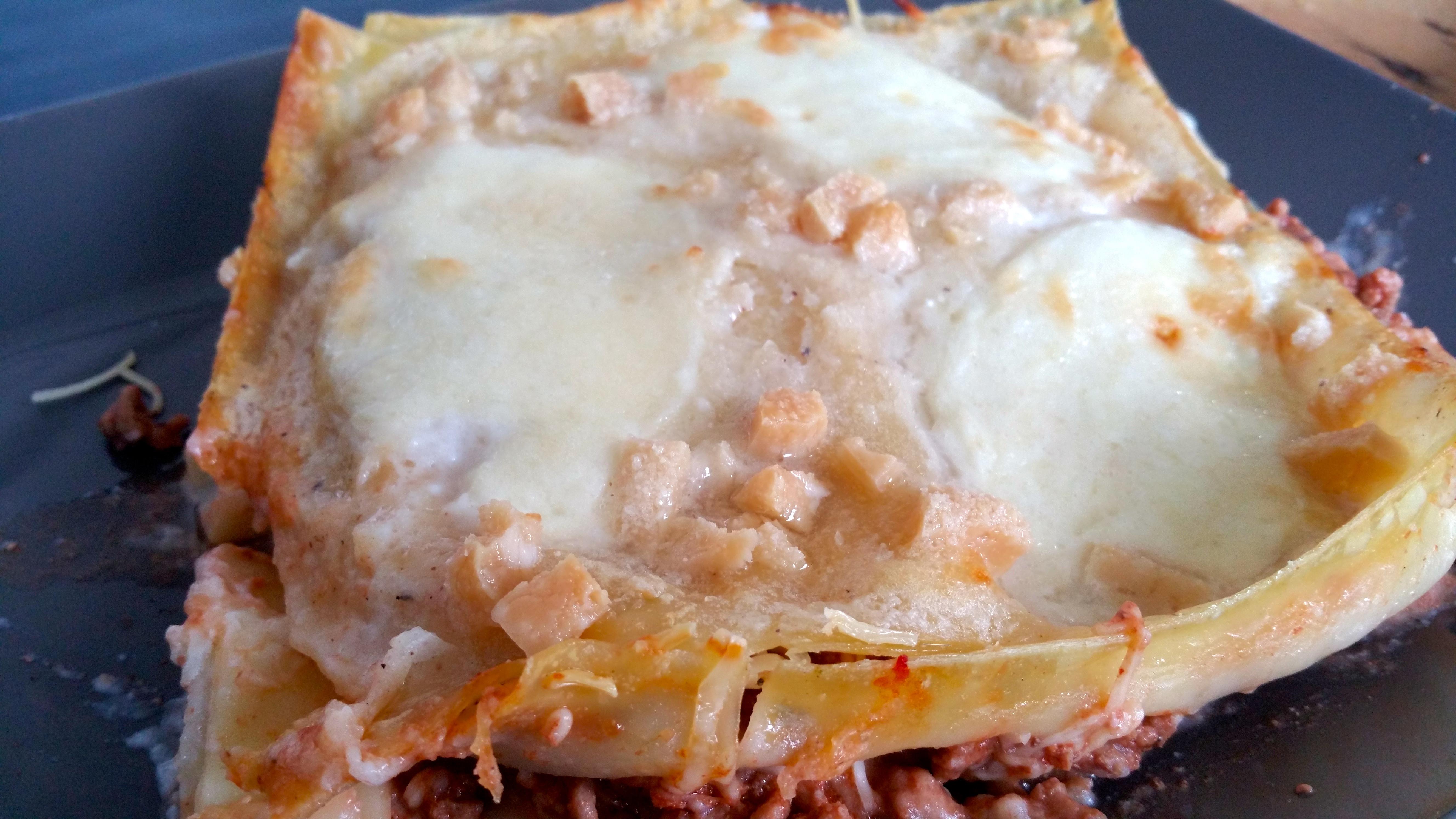 Lasagnes bolo au fromage