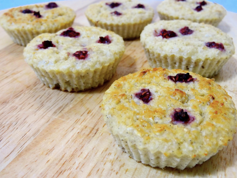 Muffins framboises vanille