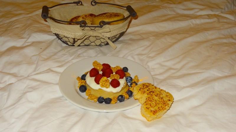Crumpets au petit déjeuner