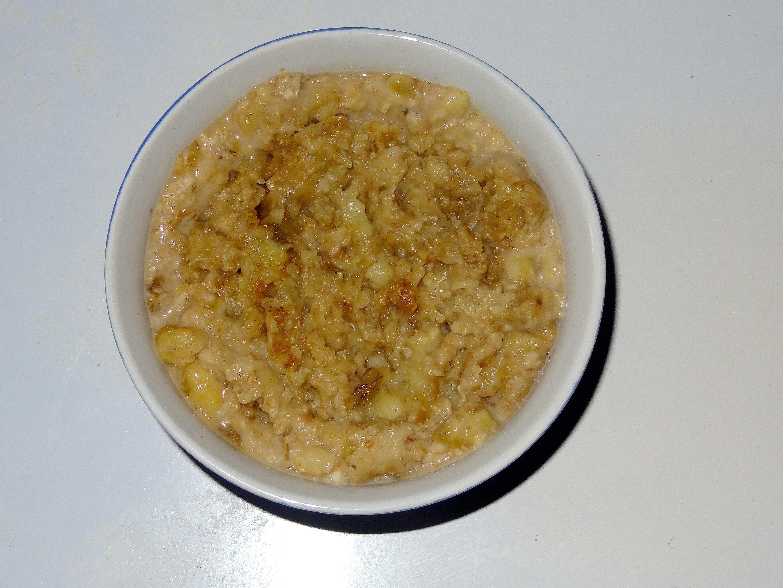Porridge banane speculoos