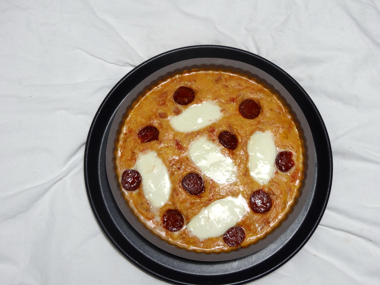 Quiche sans pâte façon pizza carnivore