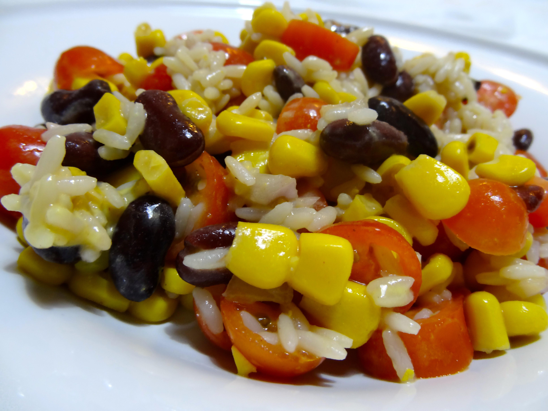 Salade de riz façon chili con carne