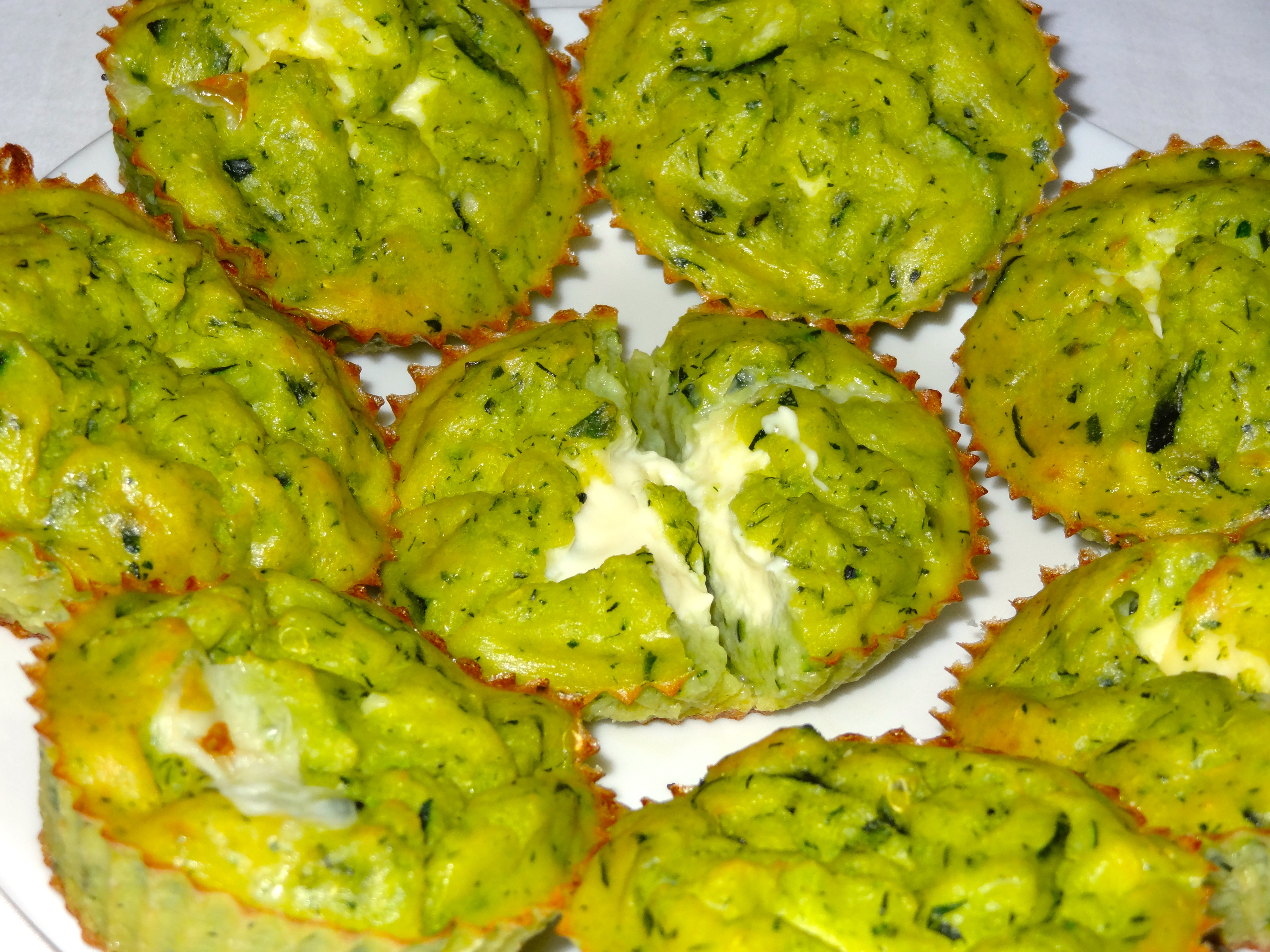 Muffins courgette coeur coulant vache qui rit