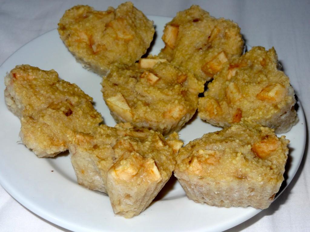 Muffins de semoule à la pomme