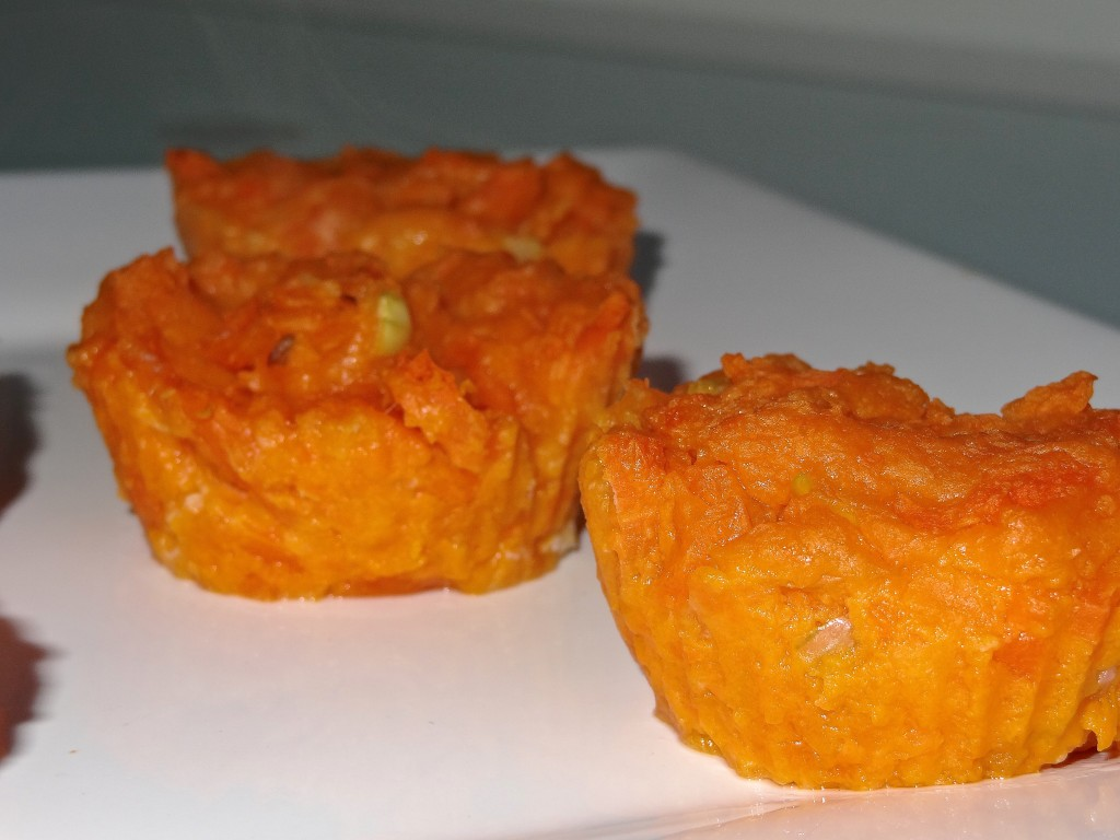 Muffins patate douce carottes