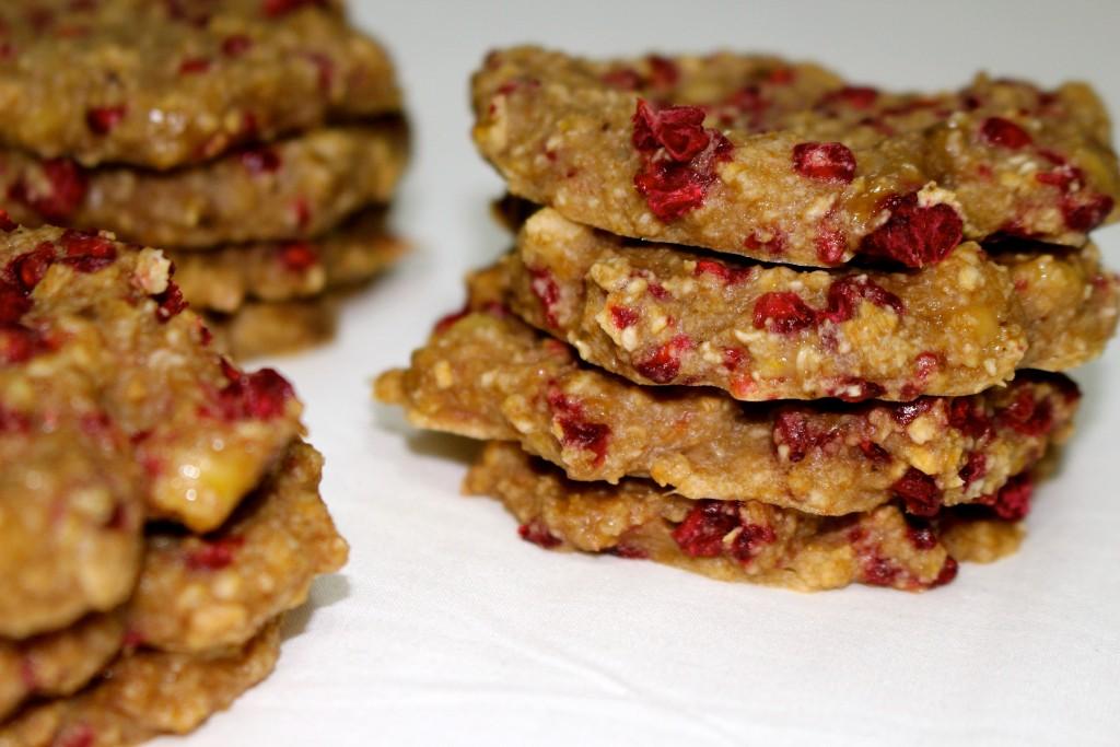 Cookies banane à la framboises