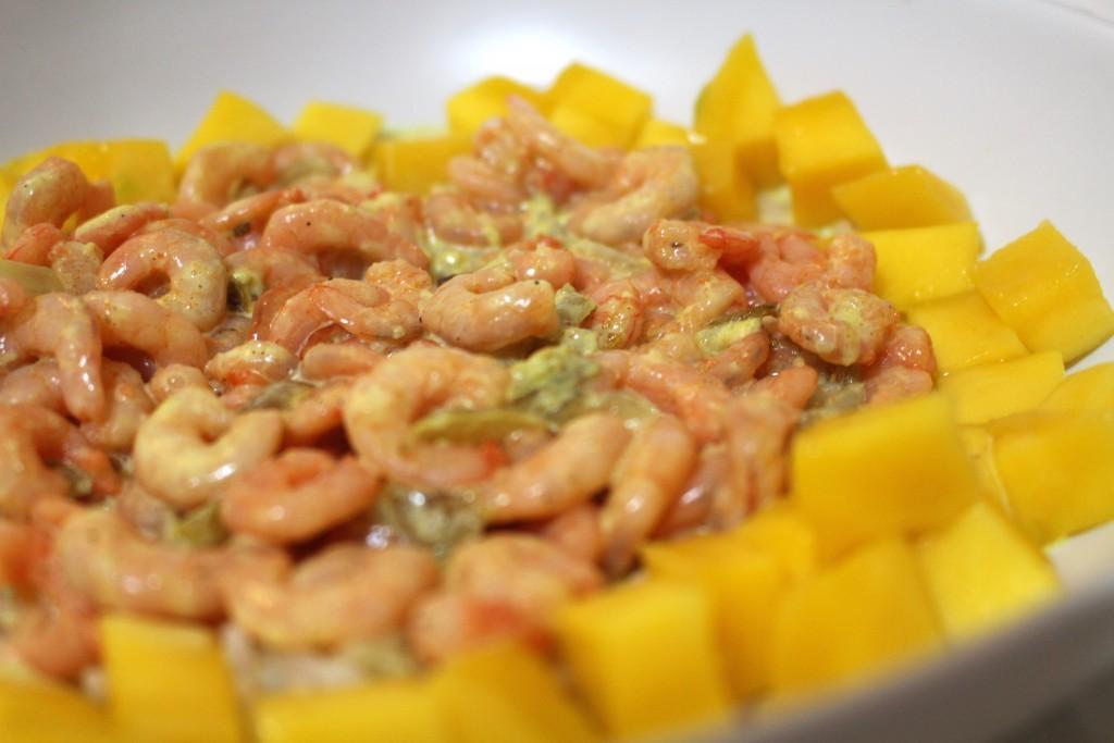 Colombo de crevettes à la mangue
