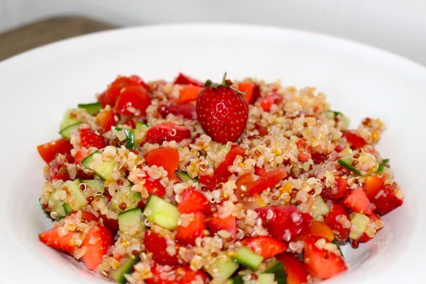Taboulé de quinoa aux fraises