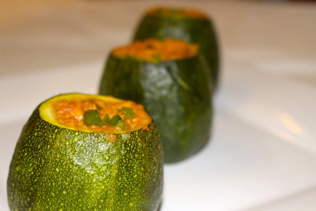 Courgettes farcies aux protéines de soja texturée
