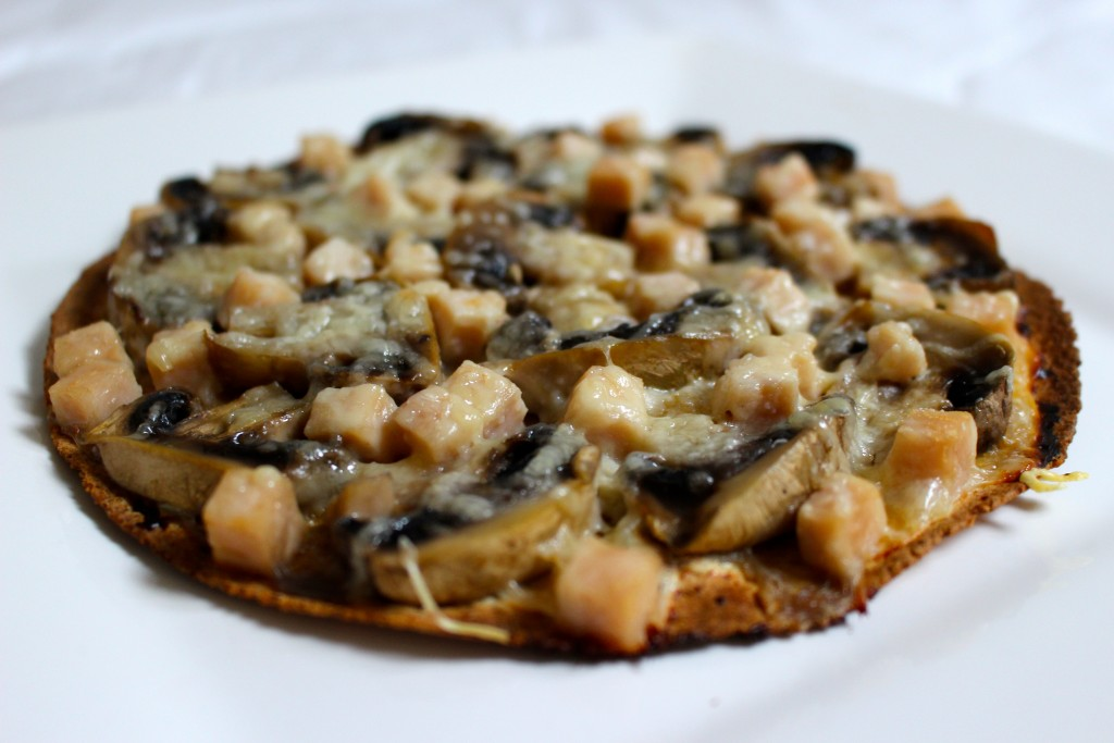 Wrap-pizza poulet champignons