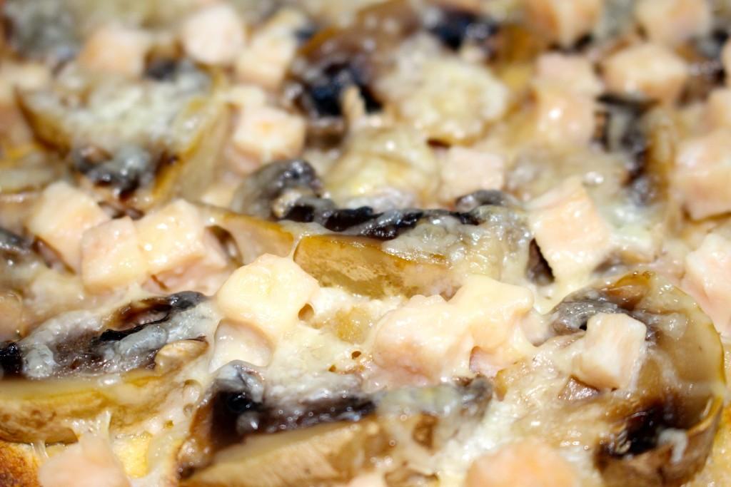 Tortilla poulet champignons