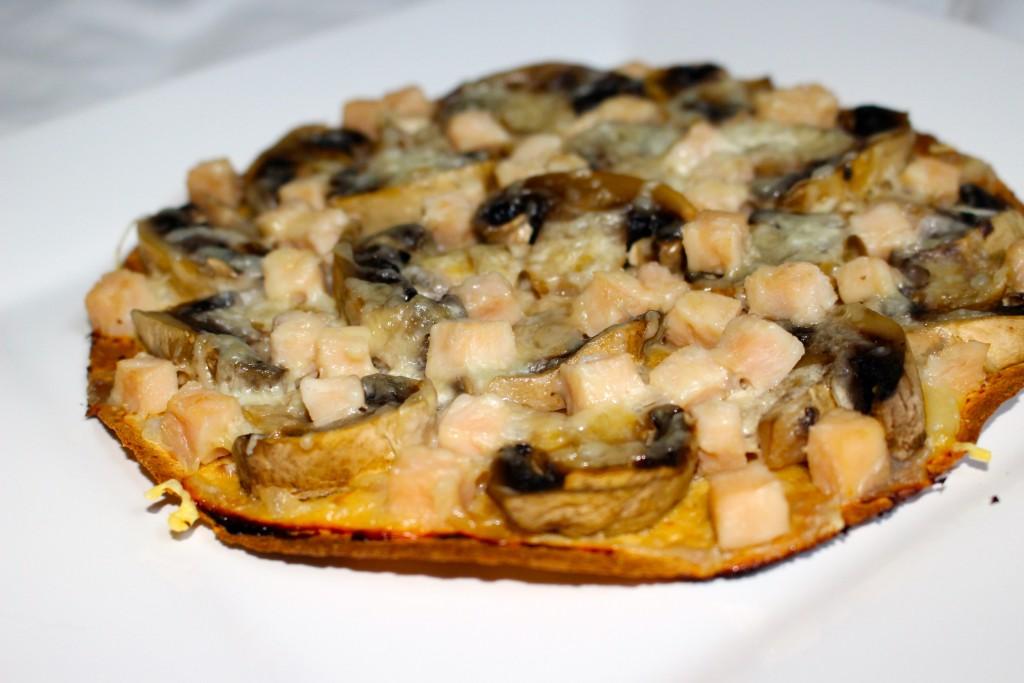 Wrap poulet champignons