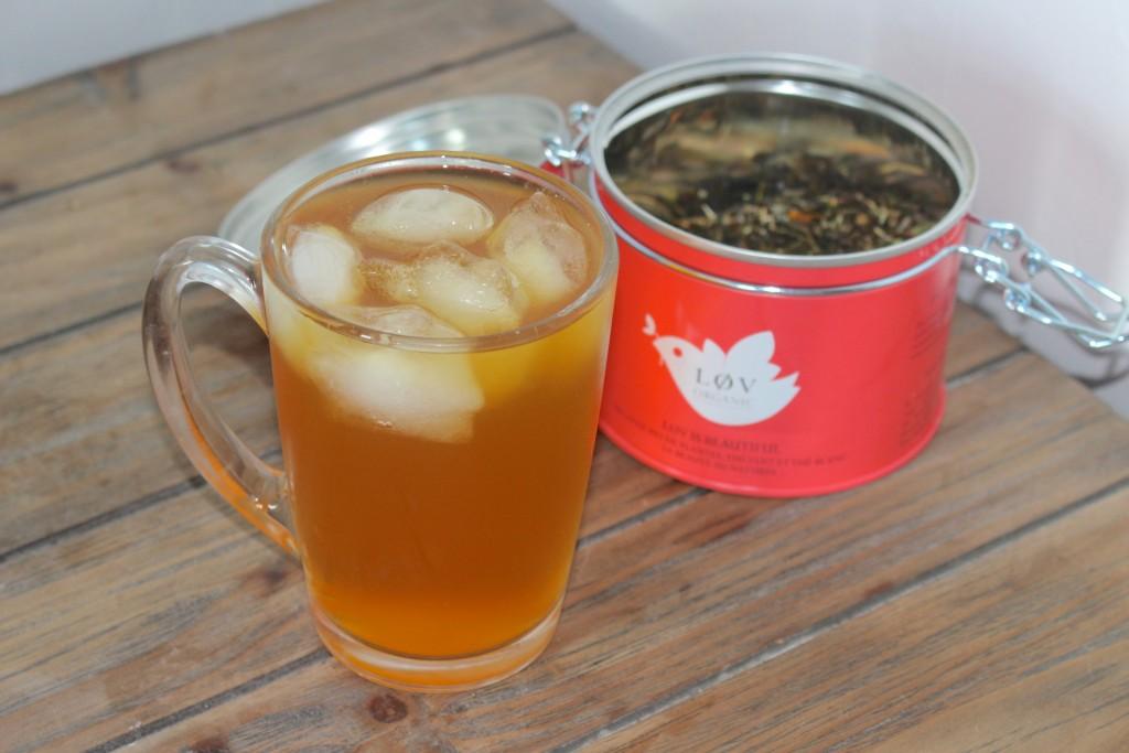 Thé glacé à l'abricot