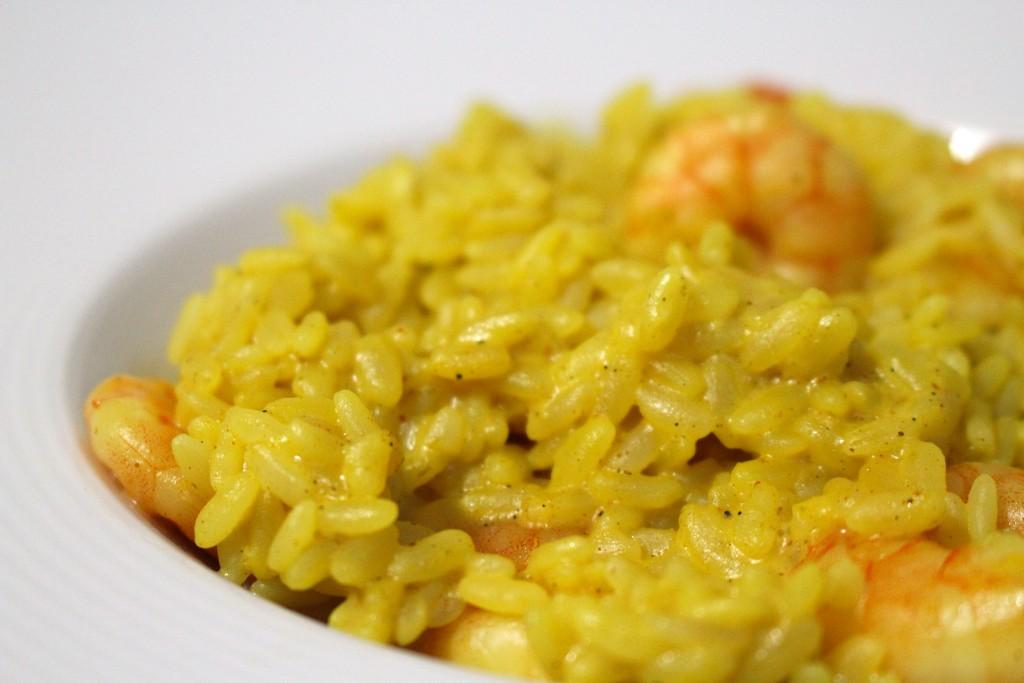 Risotto de crevettes au curry