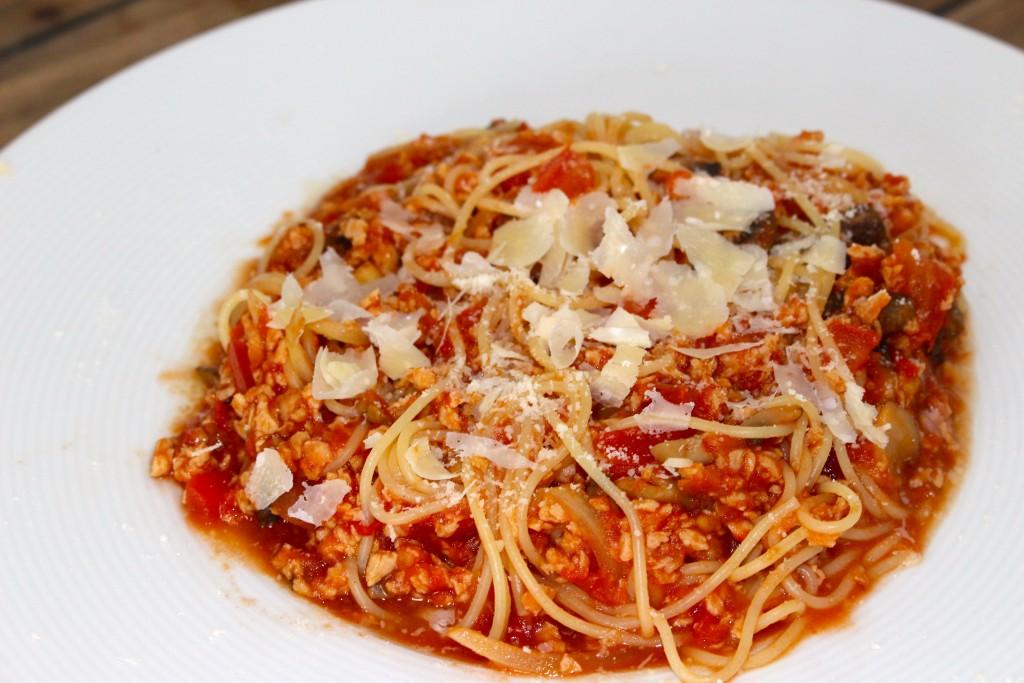 Spaghettis bolo au soja
