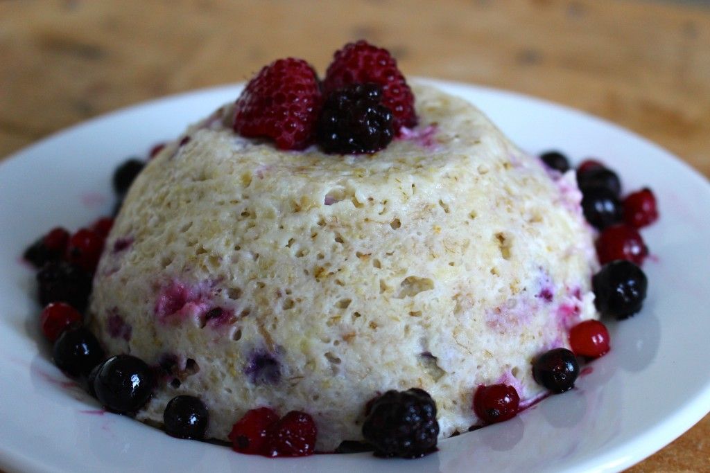 Bowlcake healthy aux fruits rouges