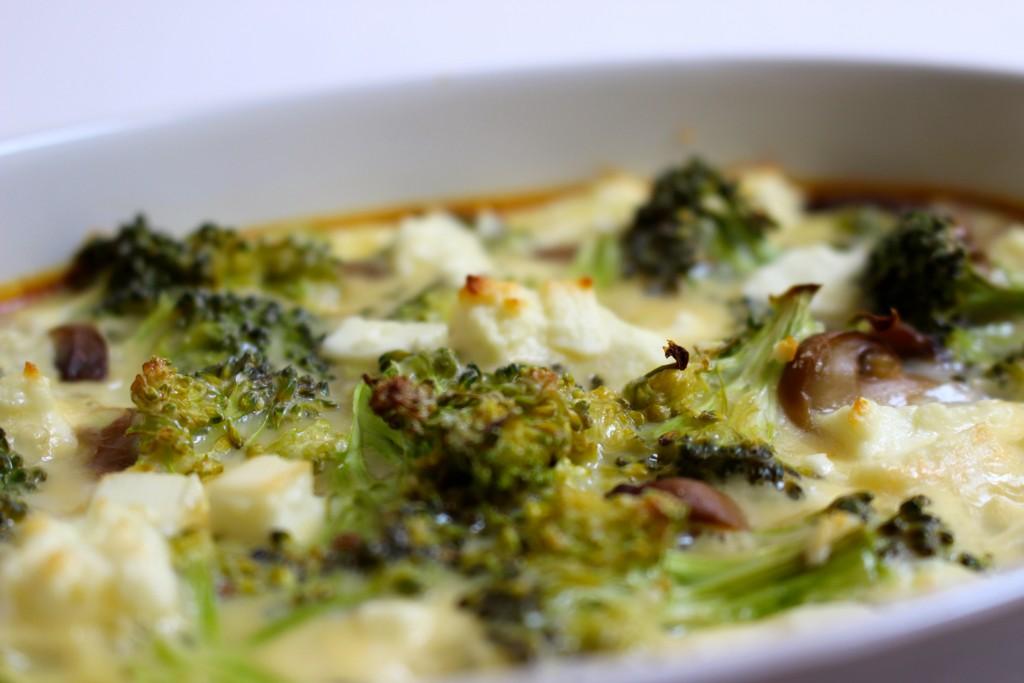 Flan brocolis et feta