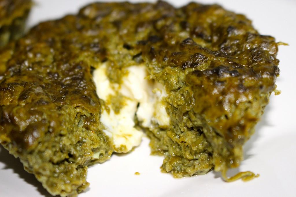 Muffins salés aux épinards coeur coulant au chèvre