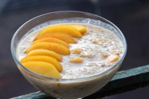 Porridge banane / pêche