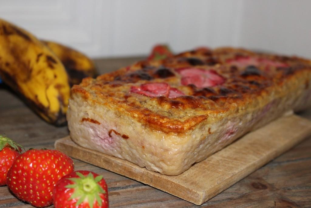Cake banane et fraises