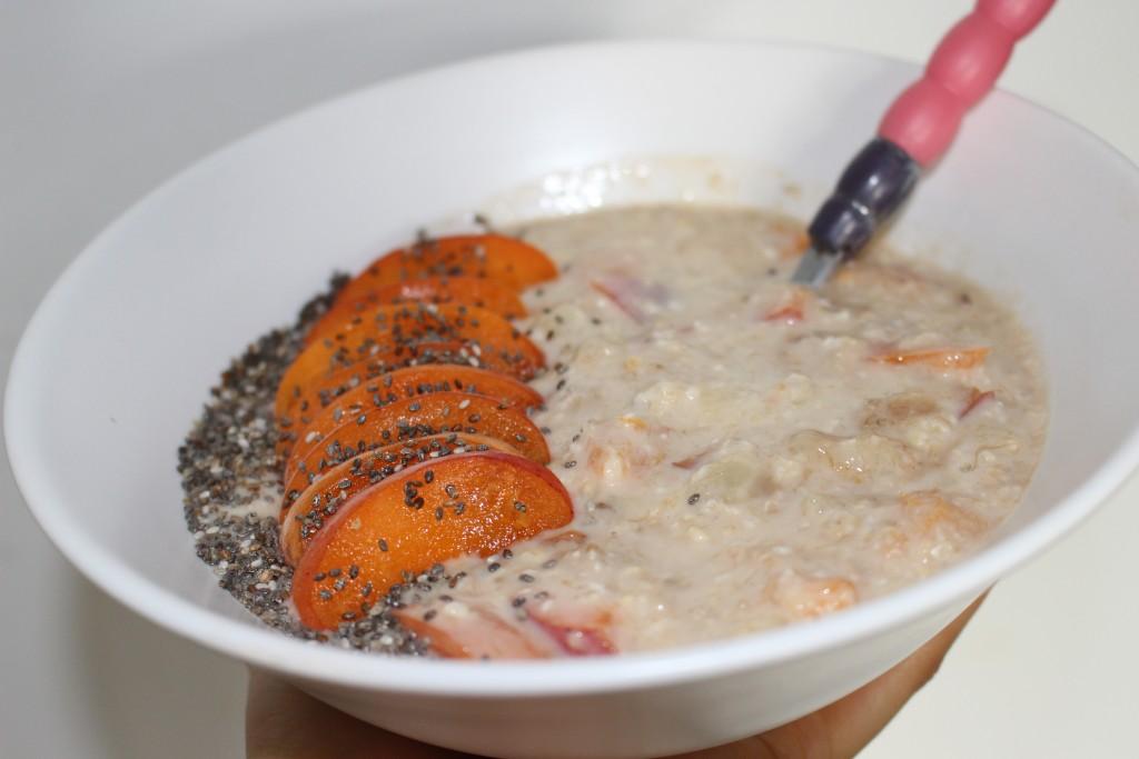 Porridge de saison aux abricots