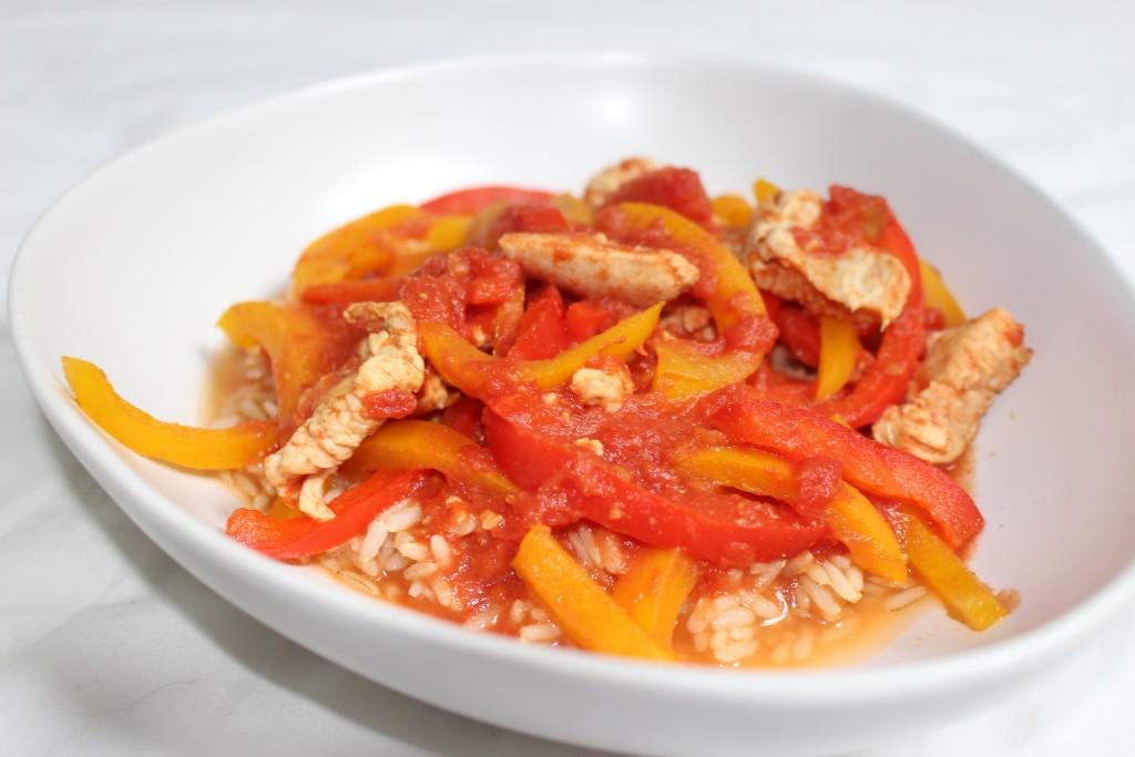Poulet curry aux poivrons