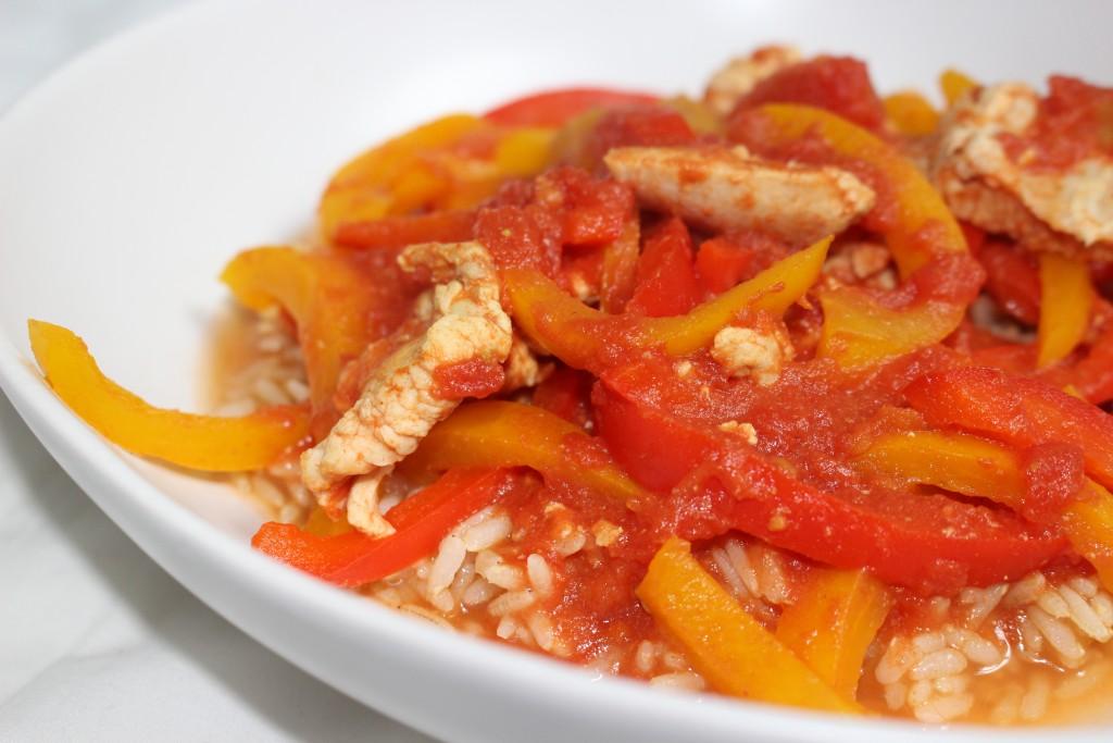 Curry de poulet aux poivrons