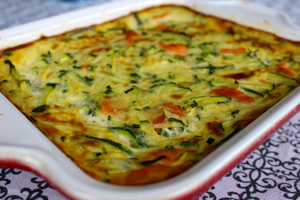 Clafoutis saumon et courgettes Weight Watchers