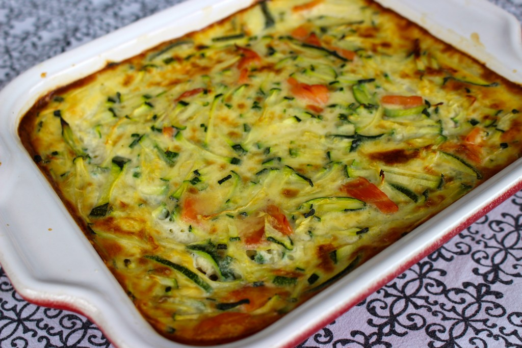 Clafoutis courgettes / saumon