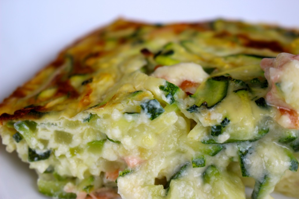 Clafoutis saumon / courgettes Weight Watchers