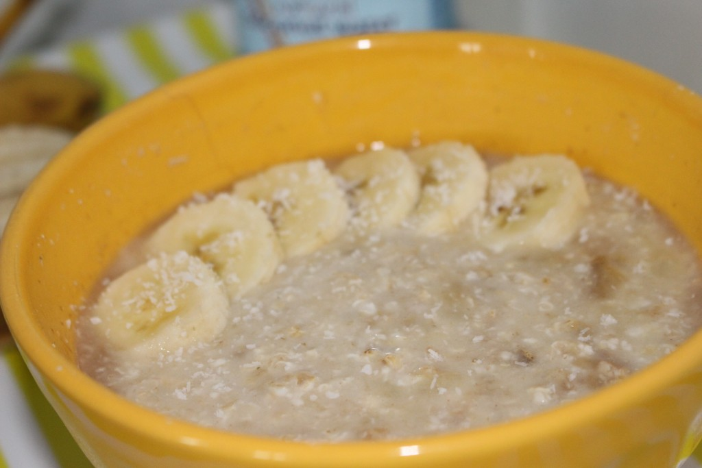 Porridge banane et eau de coco