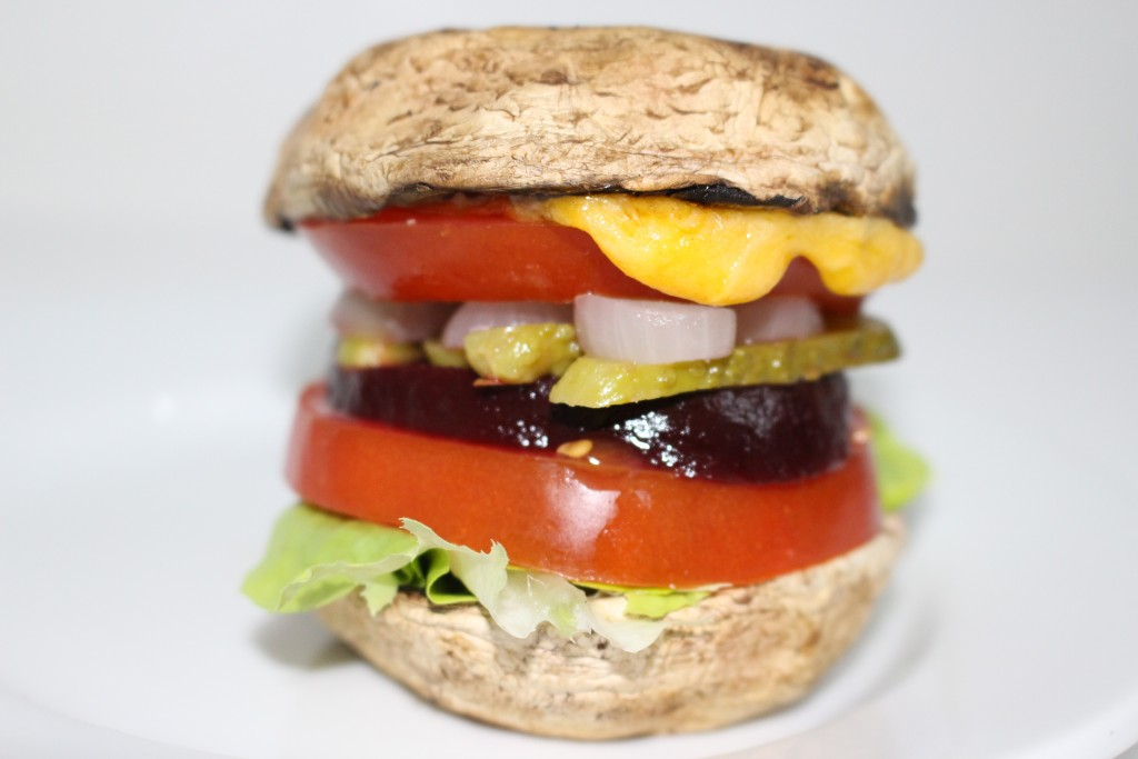Champi-burger au cheddar