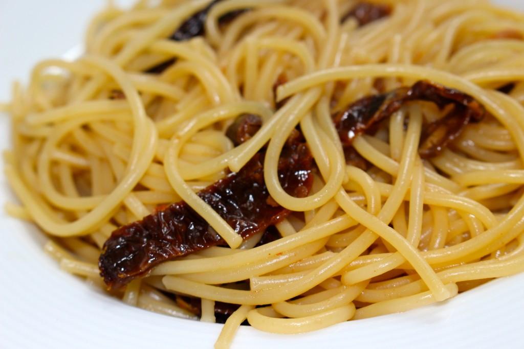 Pâtes tomates séchées et parmesan
