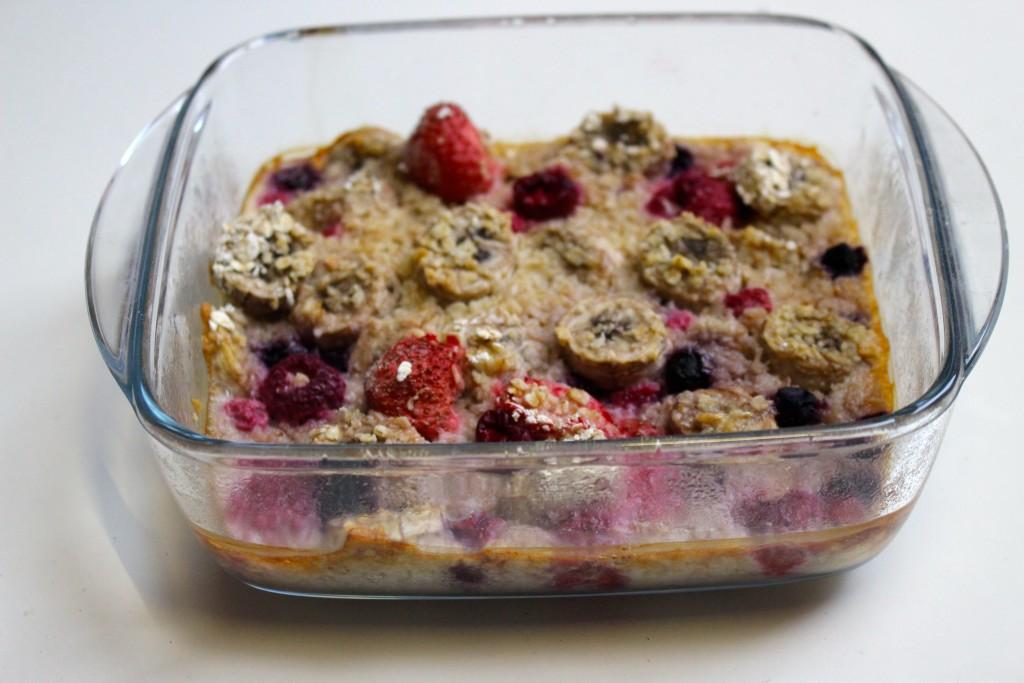 Porridge aux fruits cuisson au four