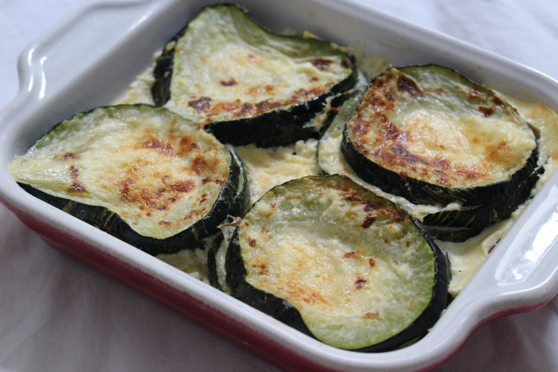 recette de gratin de courgettes la ricotta dine move blog sport cuisine healthy. Black Bedroom Furniture Sets. Home Design Ideas