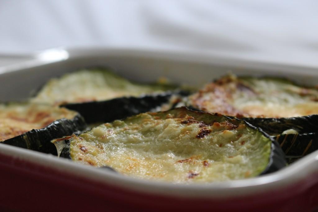 Courgettes à la ricotta et au parmesan