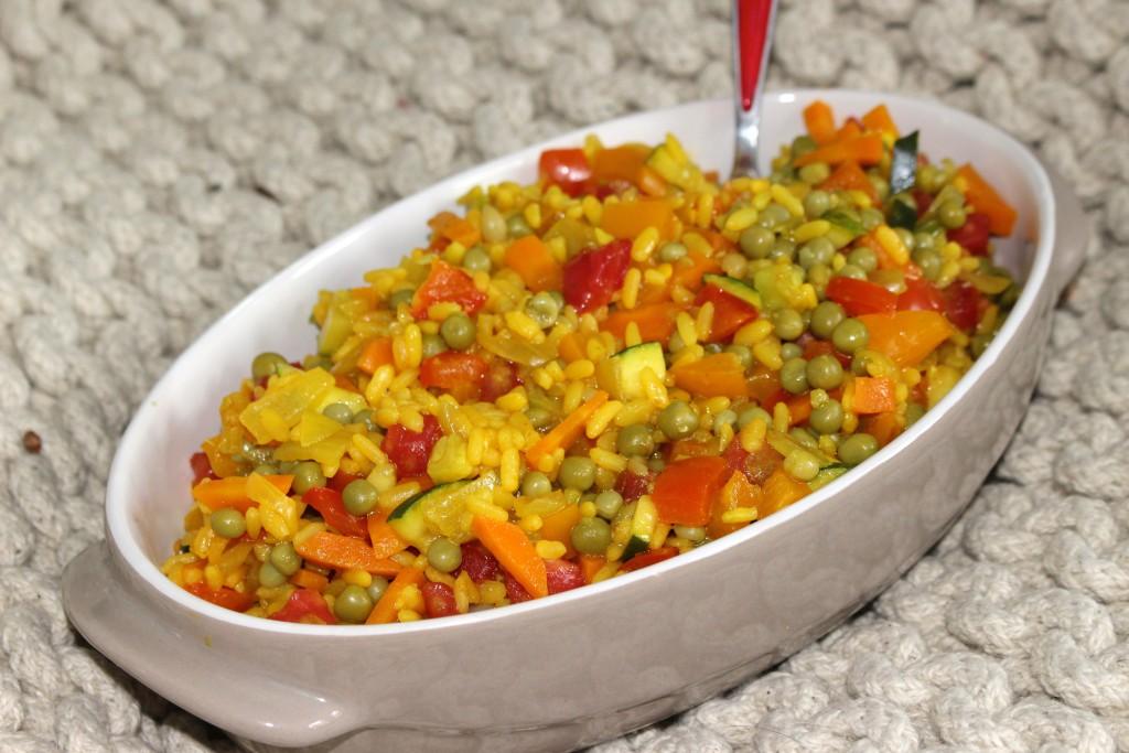 Paella végétarienne aux légumes