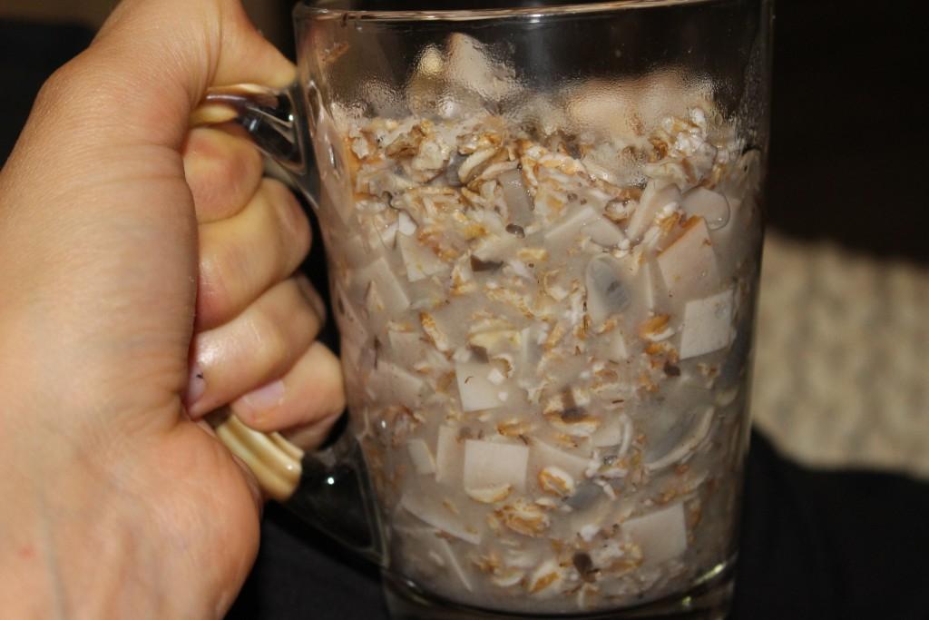 Porridge salé aux champignons