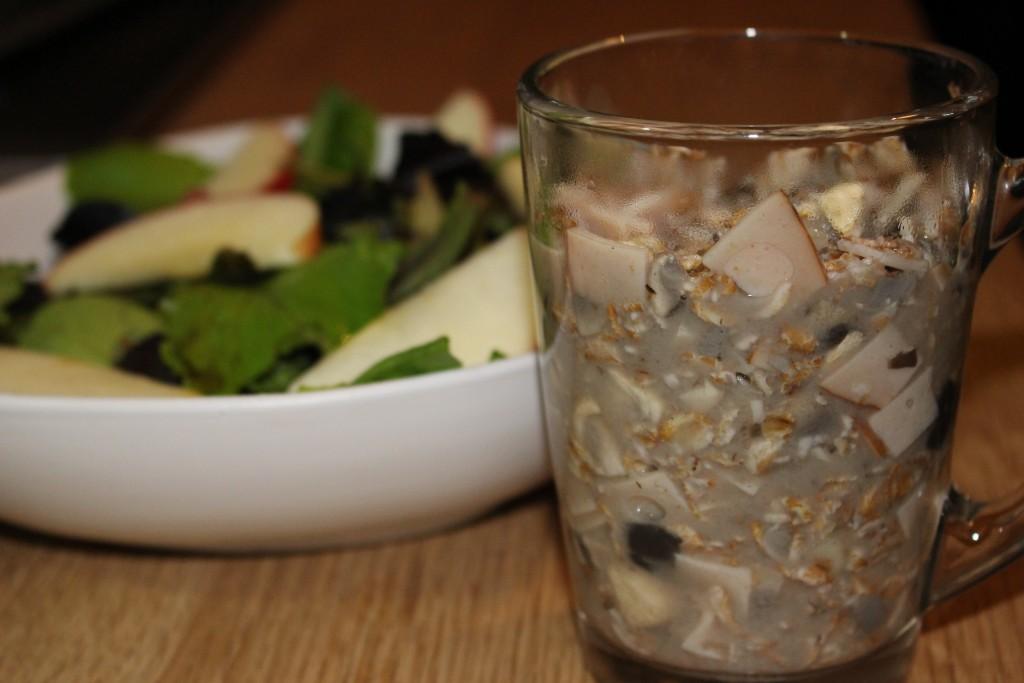 Porridge salé poulet / champignons