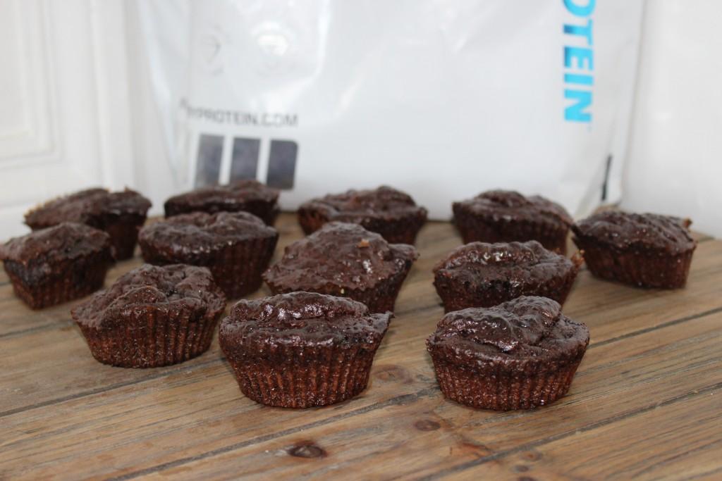 Muffins protéinés au chocolat