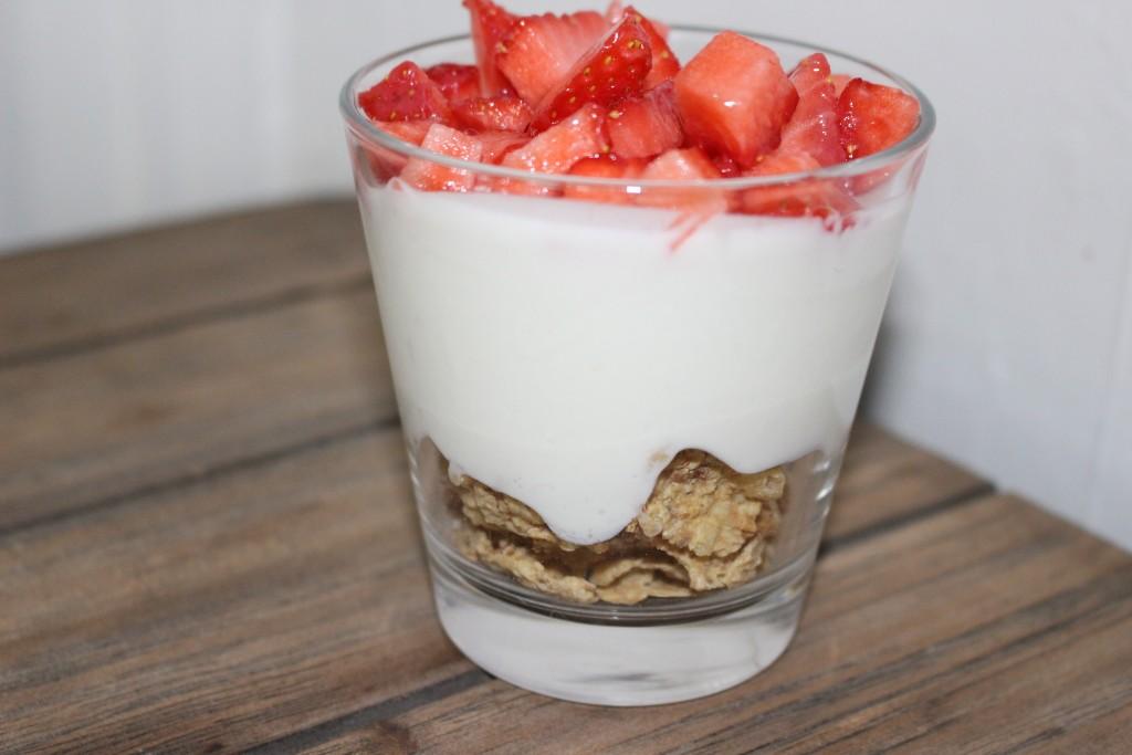 Fromage blanc aux fraises