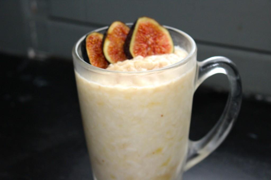 Riz au lait banane et figues