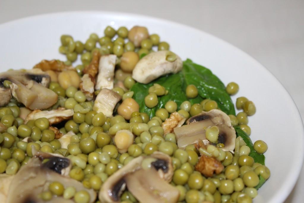 Salade petits pois et champignons