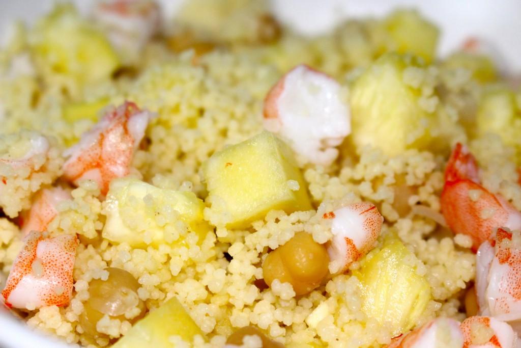 Couscous ananas et crevettes