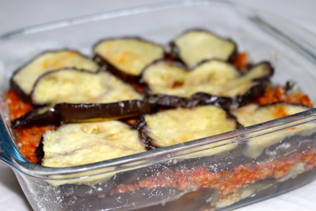 Gratin aubergine / soja