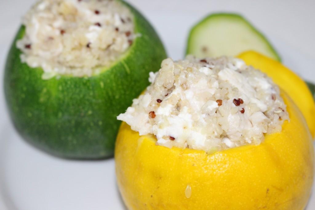 Courgette quinoa, poulet et feta