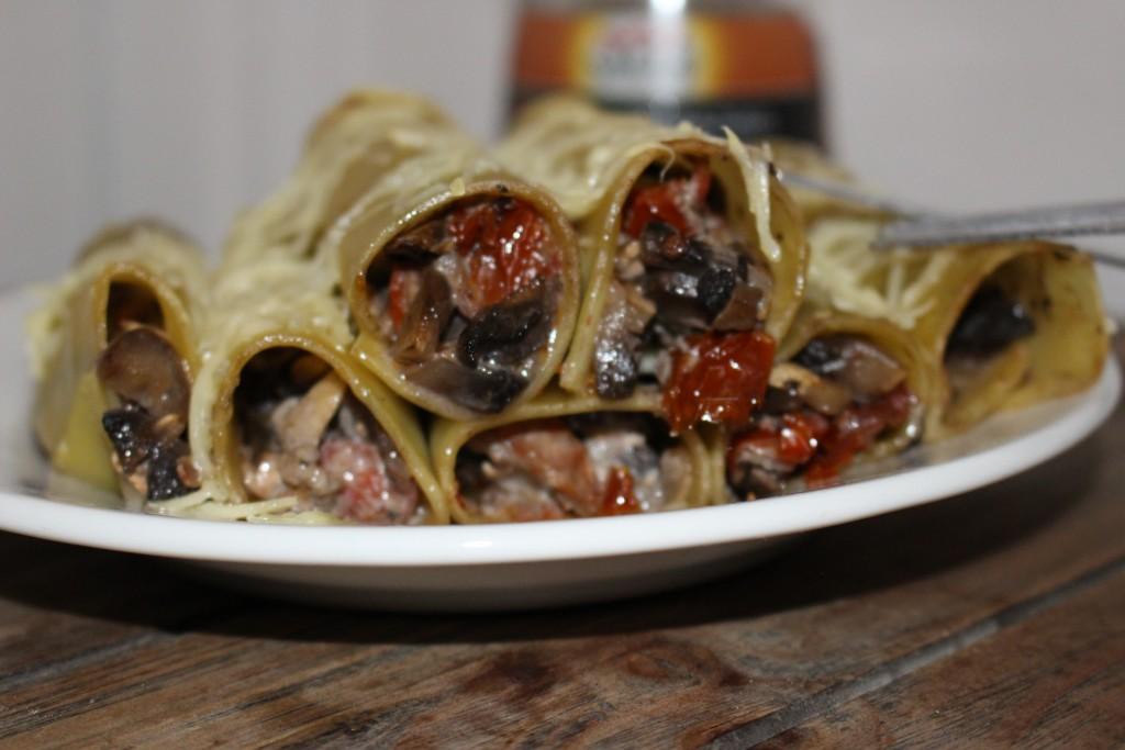 Cannellonis farcis champignons et tomates