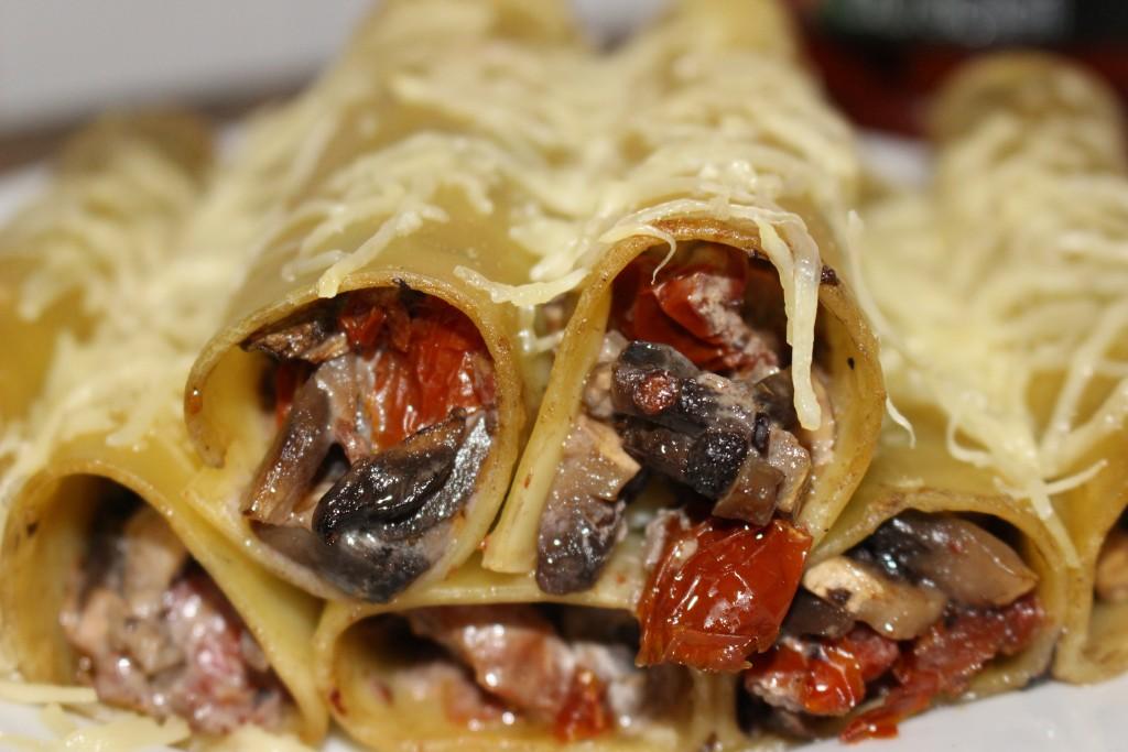 Cannellonis champignons et tomates