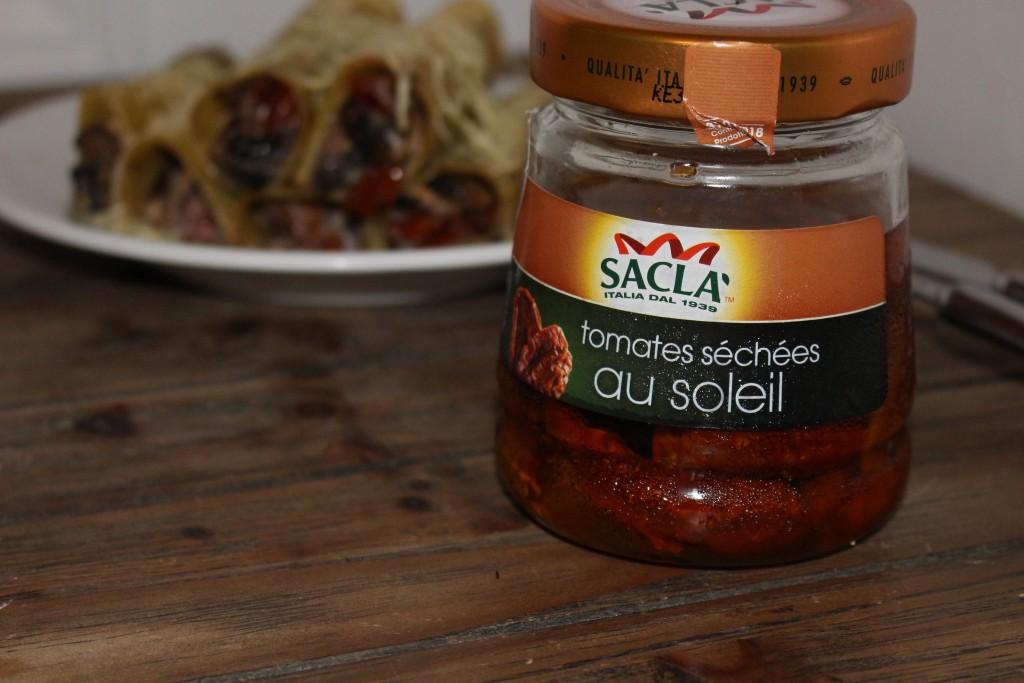 Cannellonis aux tomates séchées